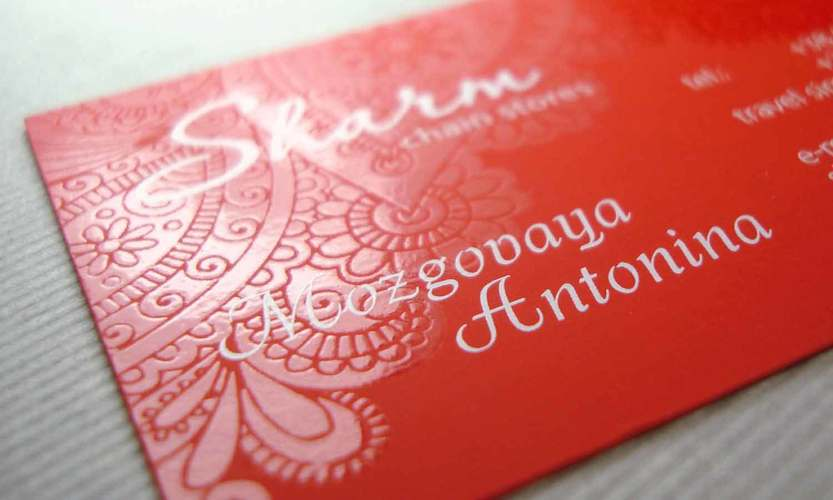 Красные визитки для уверенных в себе людей